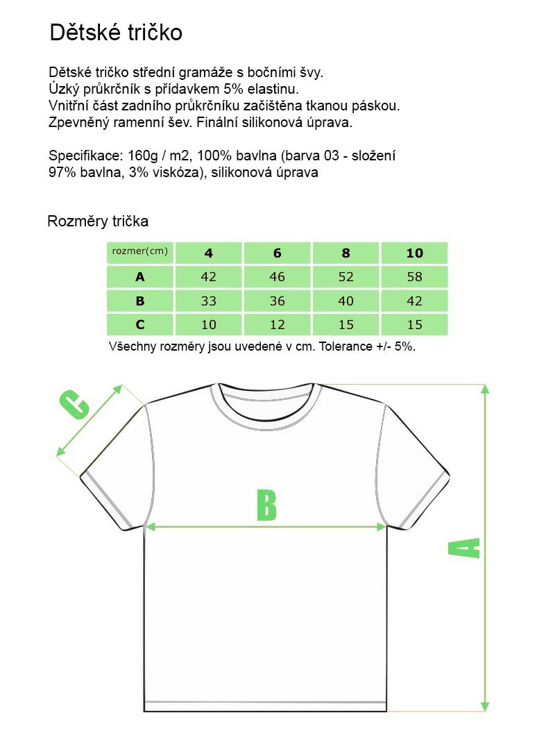 90c77ae2615 Dětské tričko s kvalitním vlastním potiskem vyrobené ze 100% bavlny